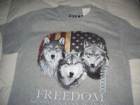 Husky Dog Tee Short Sleeve Grey Tee Shirt - Choice Choose Small Or Large -