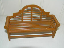 DOLLS HOUSE FURNITURE FINE PAINTED WOODEN BENCH FAB QUALITY 15cm wide 9cm high