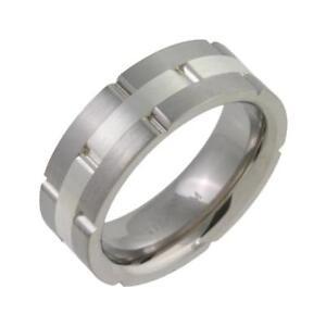 Titan Silber Hochzeit Ring Flachgericht Form 7mm Ring Ebay