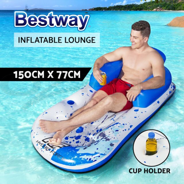 Bestway  Inflatable Floating Float Floats Pool Lounge Chair Bed Swimming Pools