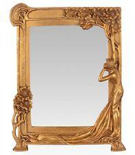 Miroir maquillage miroir de table fer art nouveau femme plante style antique