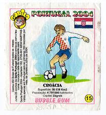 Portugese Gorila gum Wax Wrapper Euro 2004 - Team Colours & Flag - #15 Croatia