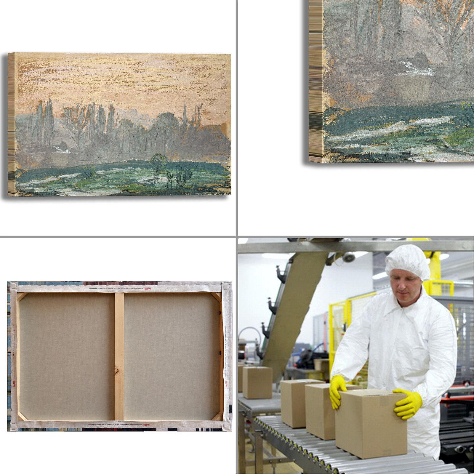 Monet quadro paesaggio invernale design quadro Monet stampa tela dipinto telaio arRouge o casa 144977