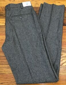 CARUSO HOUNDSTOOTH WOOL Superfine 100's Pleated Pants 34 brunello cucinelli