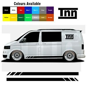 Side-Stripes-Stickers-Decals-For-VW-Volkswagen-Transporter-T4-T5-T6-Campervan