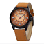 thumbnail 2 - Curren-8155D-3-Brown-Black-Brown-Leather-Strap-Watch