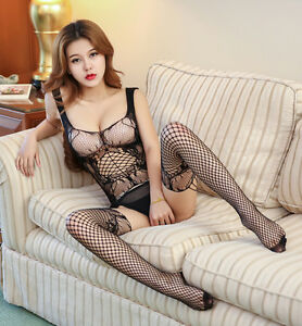 Image Is Loading Sexy Catsuit Stocking Bodysuit Women Sheath Porn Sexy