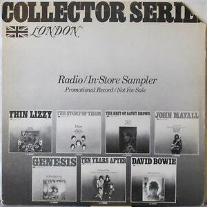 Collector-Series-Radio-In-Store-London-Sampler-LP-Genesis-BOWIE-Thin-Lizzy-THEM
