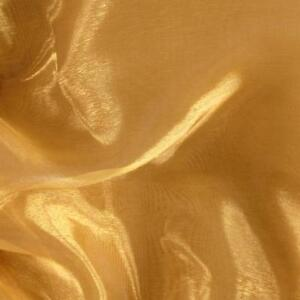 100 Yards 60 Dark Gold Organza Sheer Fabric Draping Table Runner Overlay Bows Ebay