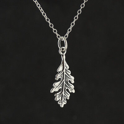Pendant Tree Fall Outline Leaves Trees NEW Leaf Necklace 925 Sterling Silver