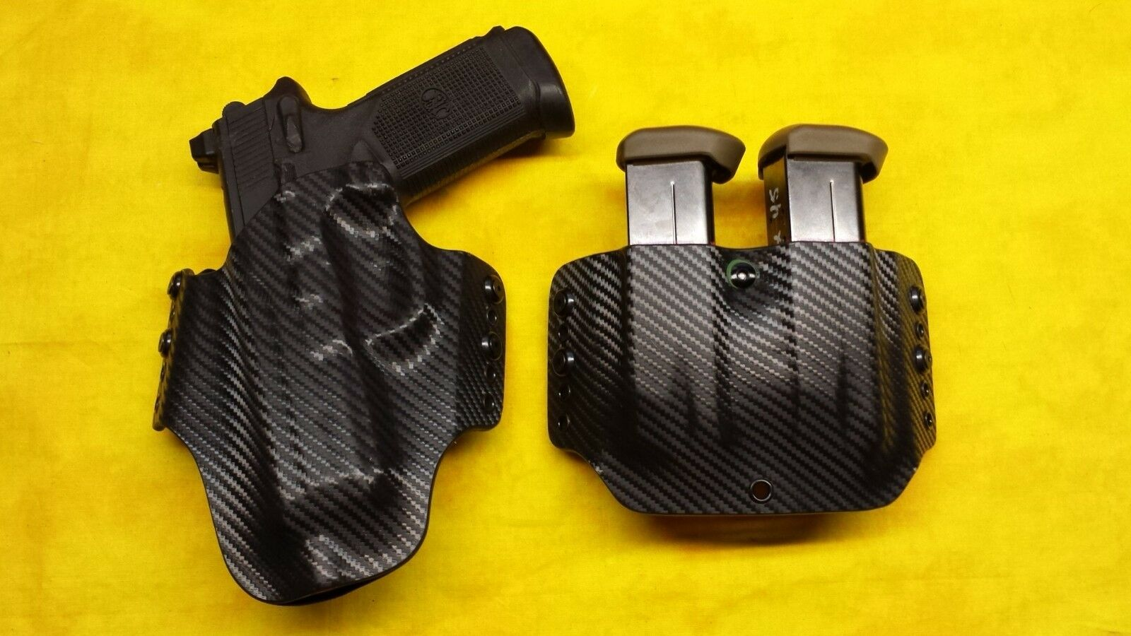 Funda Combo Negro izquierdo se ajusta FNX-45 táctico con TRIJICON Vista & Doble Engranaje De Artes Marciales