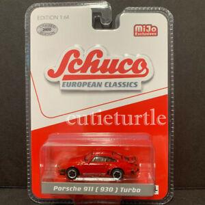 Schuco-Porsche-911-930-Turbo-1-64-Limited-Edition-2400-Pieces-Red-8900