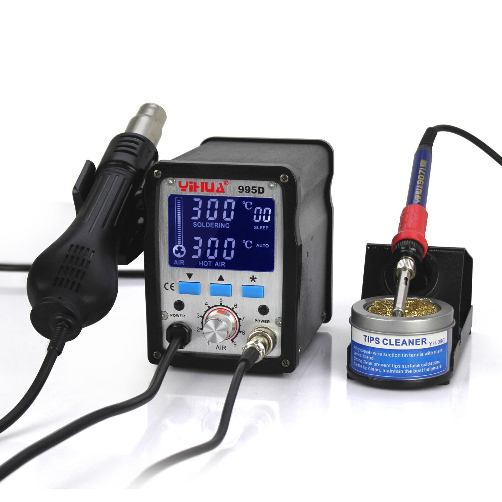 UK-PHONECASEONLINE YiHua 995d LCD SMD hot air station 220v EURO