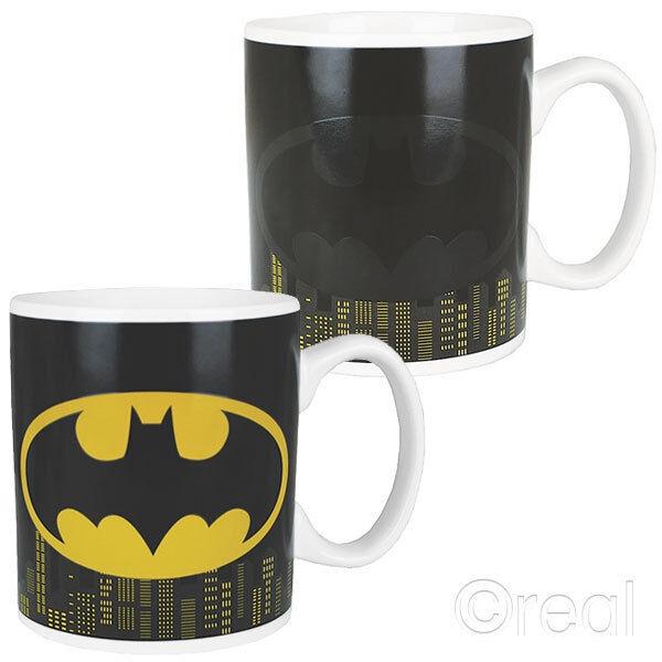 New DC Batman Logo & Gotham Skyline Heat Changing Mug Dark Knight Gift Official