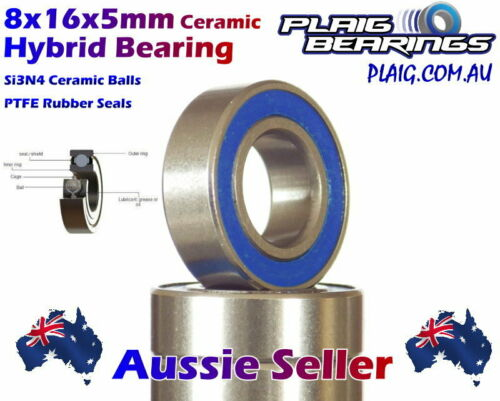 2 8x16x5mm CERAMIC Ball Bearings PREMIUM High Speed 688C MBX7 RC8 Kyosho Xray