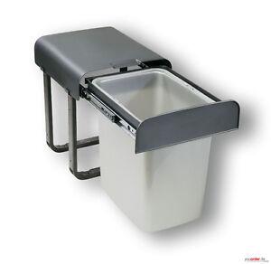 aladin einbau abfallsammler 2 eimer je 8 liter m lleimer k che vollauszug ebay. Black Bedroom Furniture Sets. Home Design Ideas