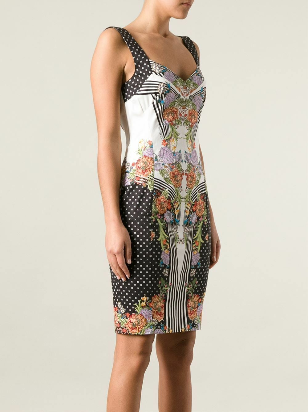 GORGEOUS  RARE JUST CAVALLI Floral Printed Printed Printed Dress -- Sold Out  982c78