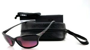 b74c8194bc POLARIZED OAKLEY SHE S UNSTOPPABLE Black Rose Gradient Sunglasses OO ...