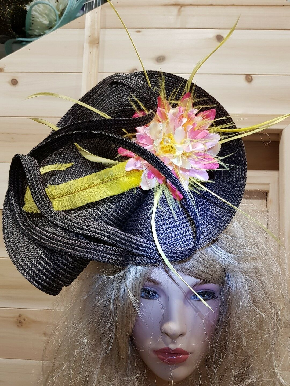 Fascinator hatinator hat races wedding bronze look - one off design
