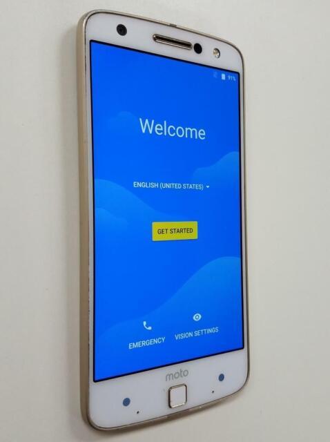 Motorola Moto Z Force Droid XT1650-02 32GB Gold/White Verizon Good Condition