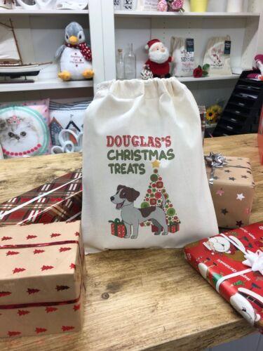 Jack Russell Personalised Dog Santa Sack Douglas Design
