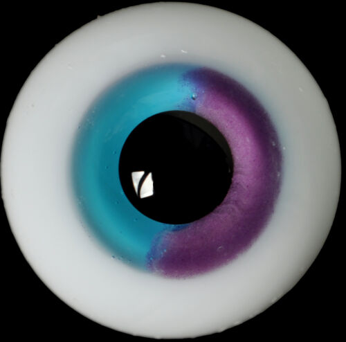 Iris 14mm Glass Stript BJD Eyes for Iplehouse Doll vivid Colorful purple/&Blue