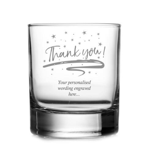 Merci de votre sentiment personnalisé gravé whisky verre Tha-Fouet