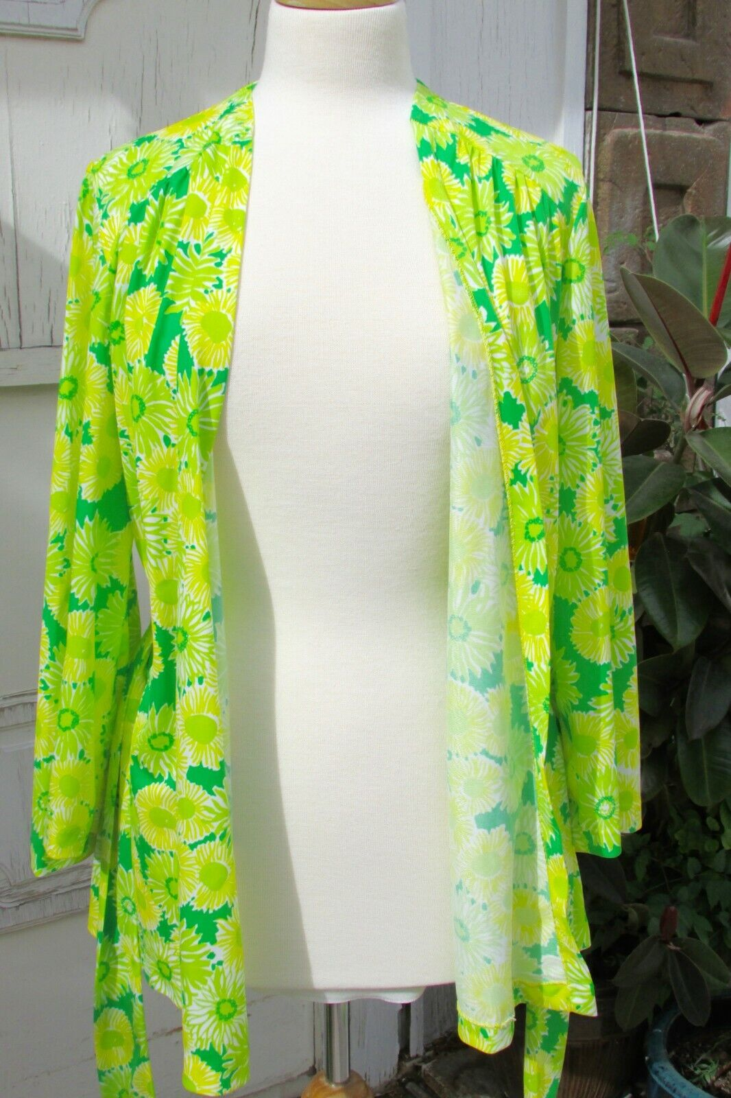 GREEN NEON VTG 70's Swimwear Cover Up-Perfection … - image 5
