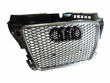 RS3 Style Honeycomb Iron Gray Front Grille for Audi A3 S3 8P Facelift 2008-2013
