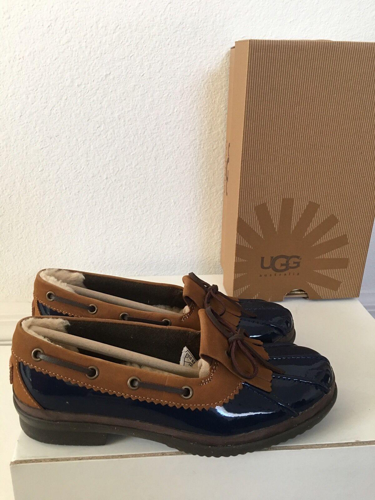 Ugg Haylie Navy Schuhes, Duck Schuhes, Navy 5.5, NIB. 4e498b