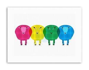 SHEEP TARTAN POP SCOTTISH D Poster Picture Canvas art Prints