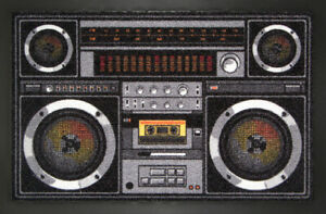 Zerbino-Ghettoblaster-Zerbino-Retro-Nastro-Rap-Punk-Zerbino-Fun-80er-TV
