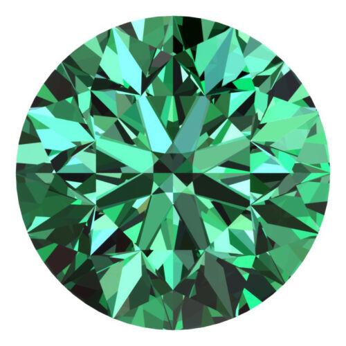 1.5 Mm Certificada Redonda Color Verde Elegante Vvs Suelto Diamante Natural Lote al por mayor