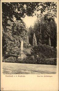 Auerbach-an-der-Bergstrasse-alte-AK-1910-20-Partie-im-Fuerstenlager-Springbrunnen