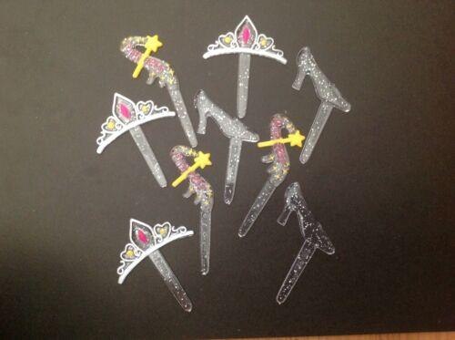 pantoufle tiara gâteau décorations 9 princesse cupcake picksréutilisable