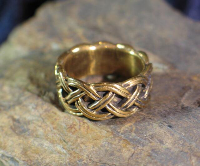 Ring BRONZE wikingerzeitliches Flechtmuster Mittelalter Wikinger Slawen