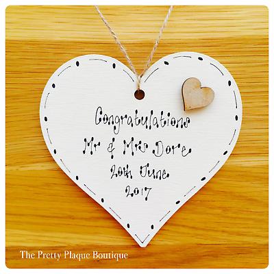 Personalised Engagement Anniversary Wedding gift handmade wooden /&