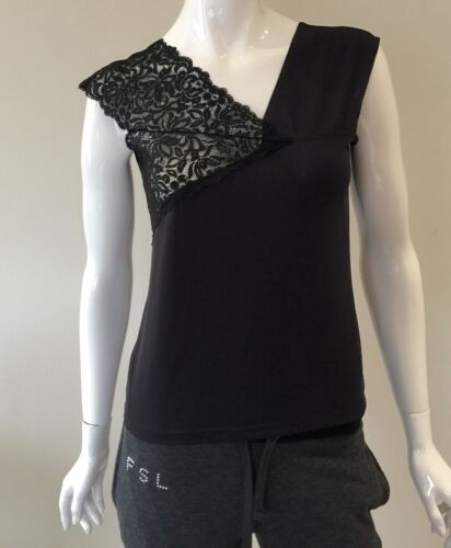 Top Black Color Size M And Lace Roccobarocco Crystals Jeans Designer 6qnvEv