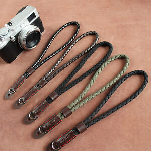Digital-Mirrorless-Camera-Wrist-Hand-Strap-Soft-Cotton-Linen-Weaved-Black-Strap