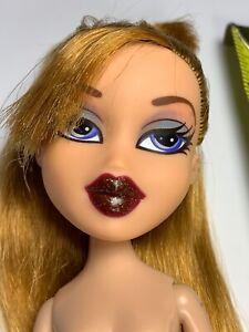 2002 MGA Bratz Nude Doll Only Meygan Funk N Glow Red