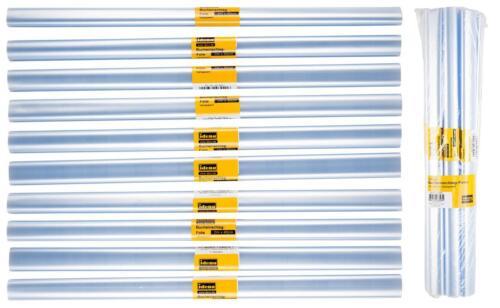 EUR 0,29 // m 2m  x 40cm Buchfolie 10 Rollen Bucheinbandfolie transparent
