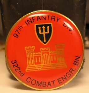 97th-INFANTRY-DIV-322nd-COMBAT-ENGR-BN-Military-Lapel-Pin-UNION-MADE-USA