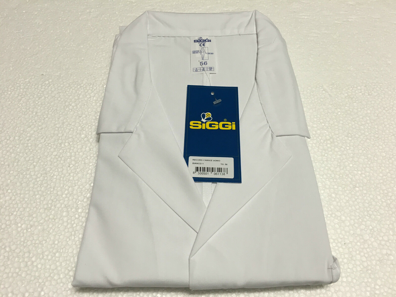 SIGGI shirts work man mod RECORD white 65% polyester 35% cotton
