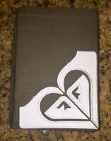 Roxy Heart Logo Full Bedskirt Brown White Dust Ruffle 15 Drop Girl's Bedding