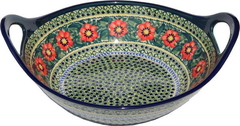 Polish Pottery Large Deep Bowl 12  Diameter From Zaklady Ceramiczne 1347 134ar