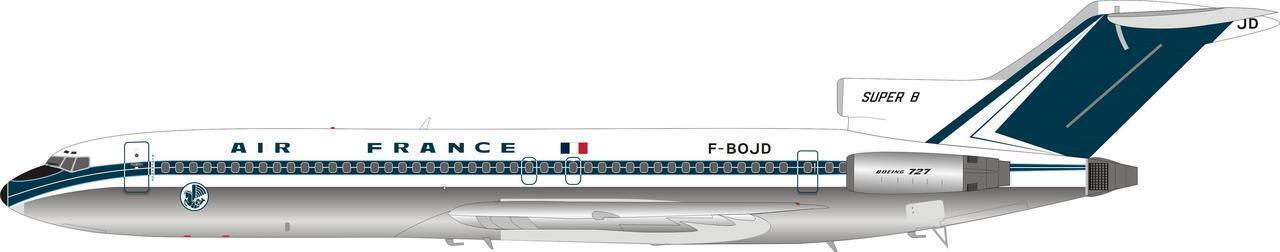 Bbox Wb722af01p 1 200 Air France Boeing 727-200 F-Bojd Poliertes