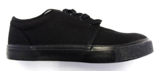 Mens Black Retro Canvas Shoes sizes 3 to 12s