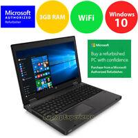 "HP ProBook 6565B LAPTOP COMPUTER QUAD CORE 1.6GHz 15.6"" Win Windows 10 KEY 32bit"