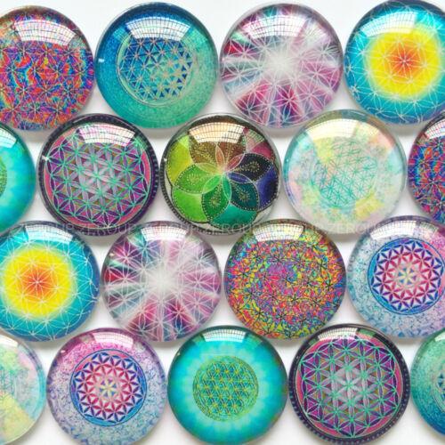 Handmade Glass CabochonsPretty Mandala DesignsChoice of Sizes