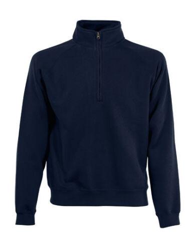 Fruit of the Loom Herren Pullover Sweatshirt CLASSIC ZIP NECK SWEAT Neu F382N